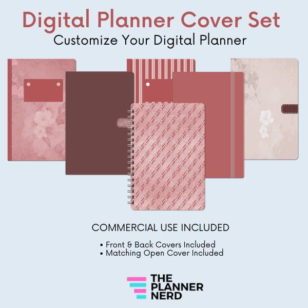 Commercial Use Digital Planner Cover Set