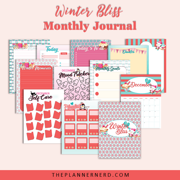 December Monthly Journal Pack